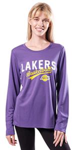 Ultra Game NBA Women's Soft Long Sleeve Fashion T-Shirt