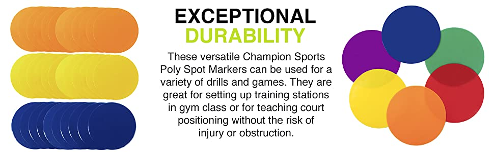 Champion Sports Spot Markers - Exceptional Durability