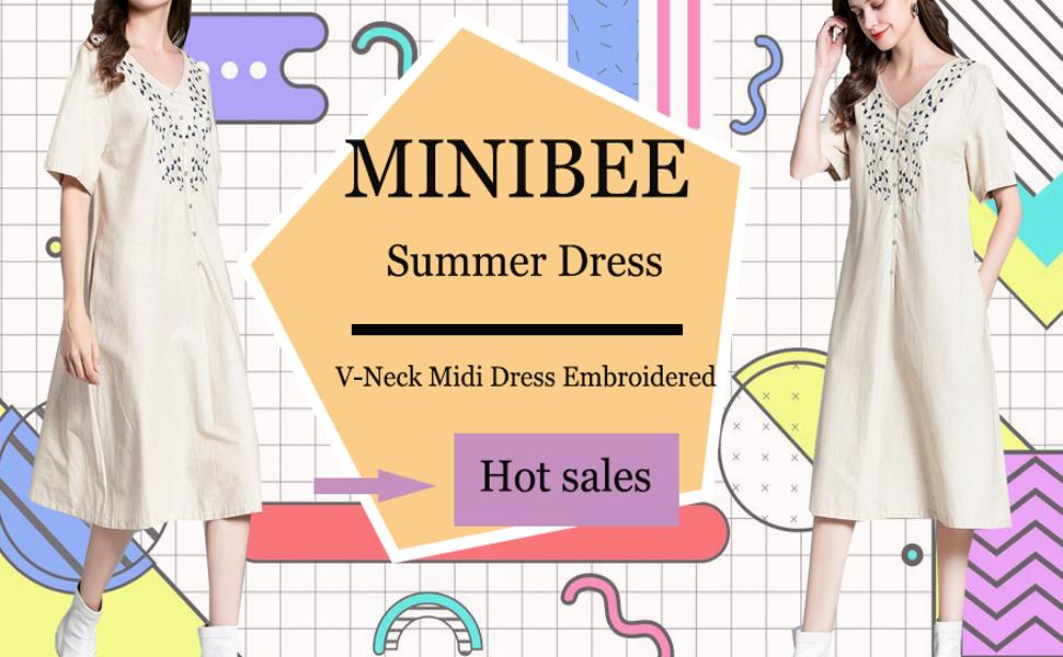 Minibee cotton linen dress