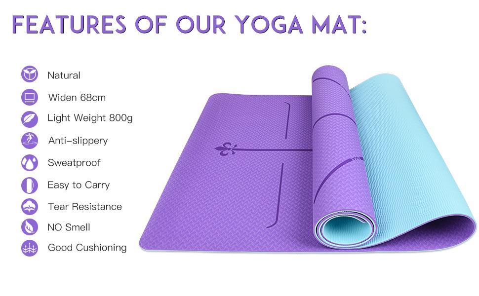 purple yoga mat