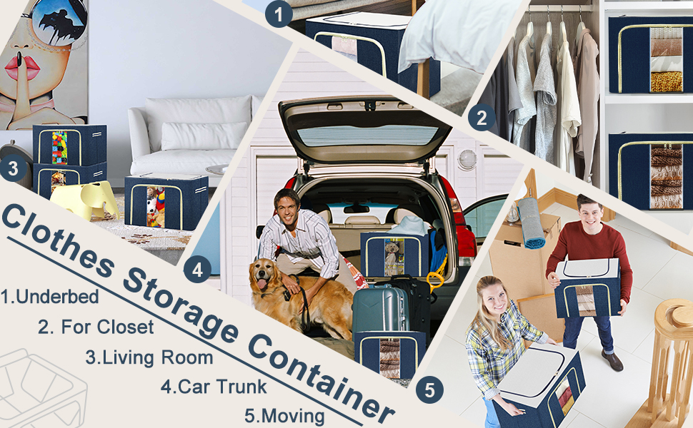 05 clothes storage containers stainless structure