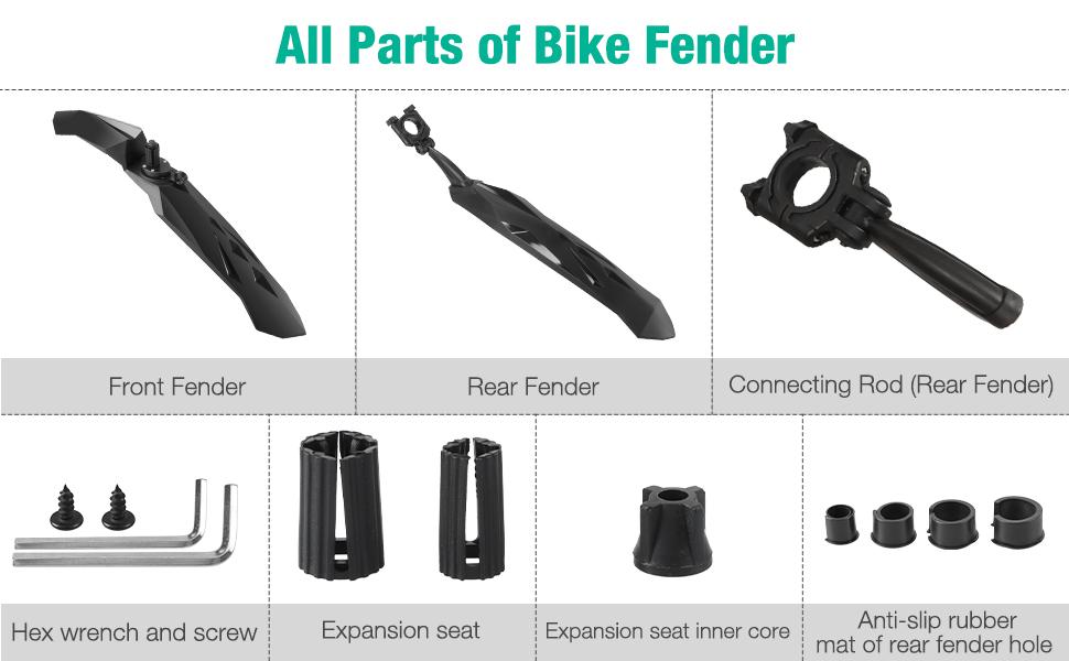 26 inch bike fender