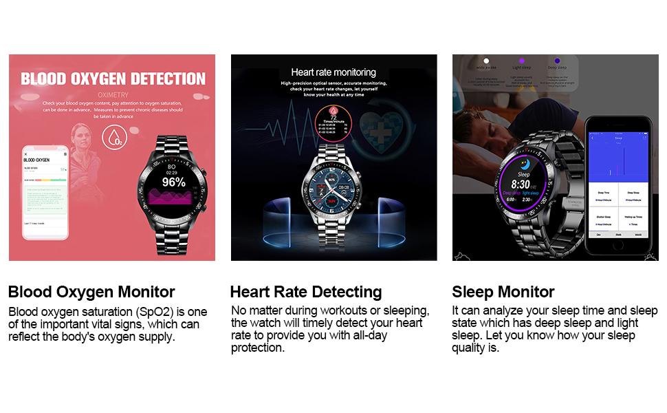 Fitness Tracker IP67 Sports Waterproof Smartwatch