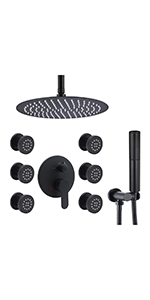 Round 12 inch Shower System