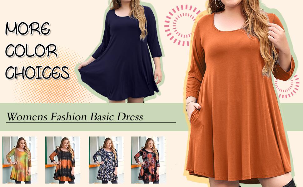 Jollielove 3/4 sleeve swing dress