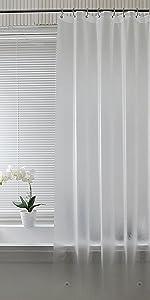 半透明シャワーカーテン