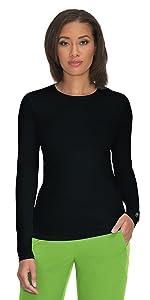 model wearing Planet Koi 1036 Womenamp;amp;#39;s Scrub Tee