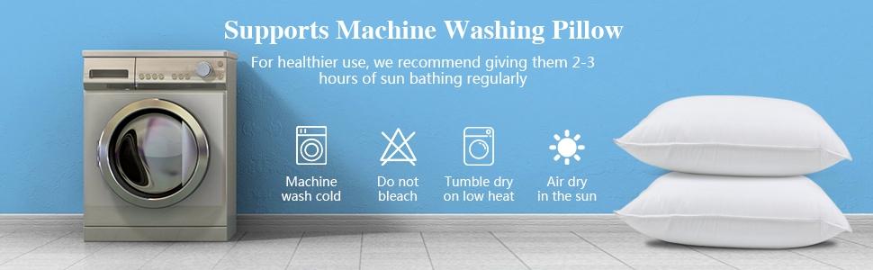 Supports machine washing