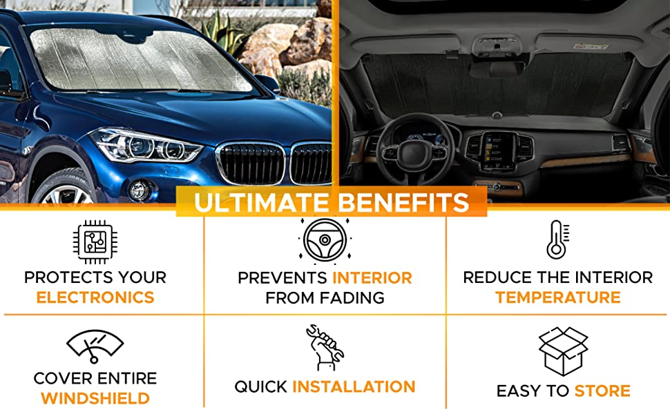 features of accordion sunshade