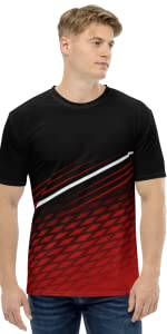 BLACK AND RED COMBO JERSEY, JERSEY FOR MEN, SPORT WEAR, JJ TEES