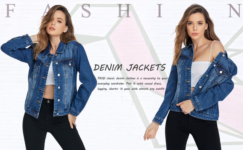 classic jean denim jackets women
