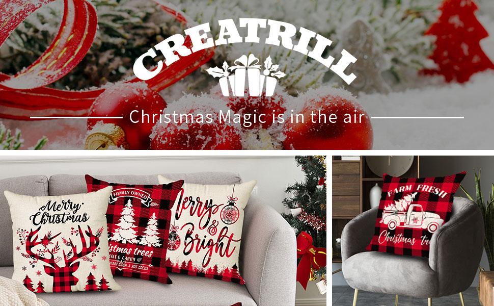christmas decor pillow covers