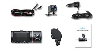 car camera - dash cam front and rear