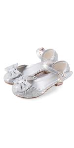silver princess shoe
