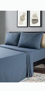 Navy  Love Heart Sheetsamp; amp; Pillowcases