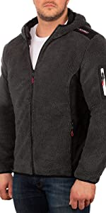 Men's fleece jacket with side pocket