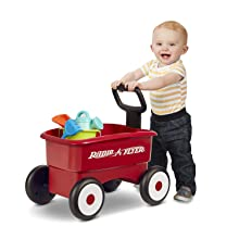 Radio Flyer 2 red wagons in 1 push