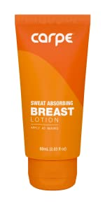 Breast sweat stopping lotion antiperspirant