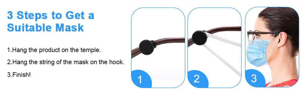 Ear Savers for Masks Glasses