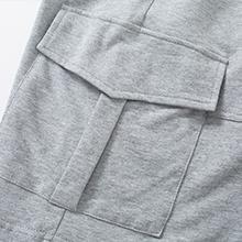 Women's Casual Cargo Cotton Shorts Bermuda Elastic Waist Drawstring Plus Size Shorts Pocket…