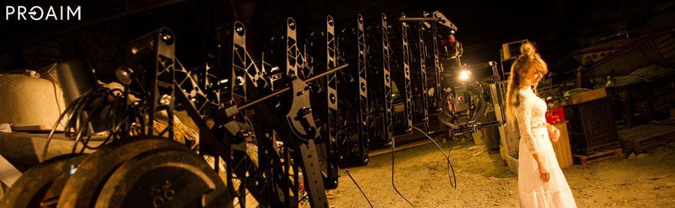 Proaim Powermatic Scissor 17ft Teleskop-Kamera-Auslegerkran