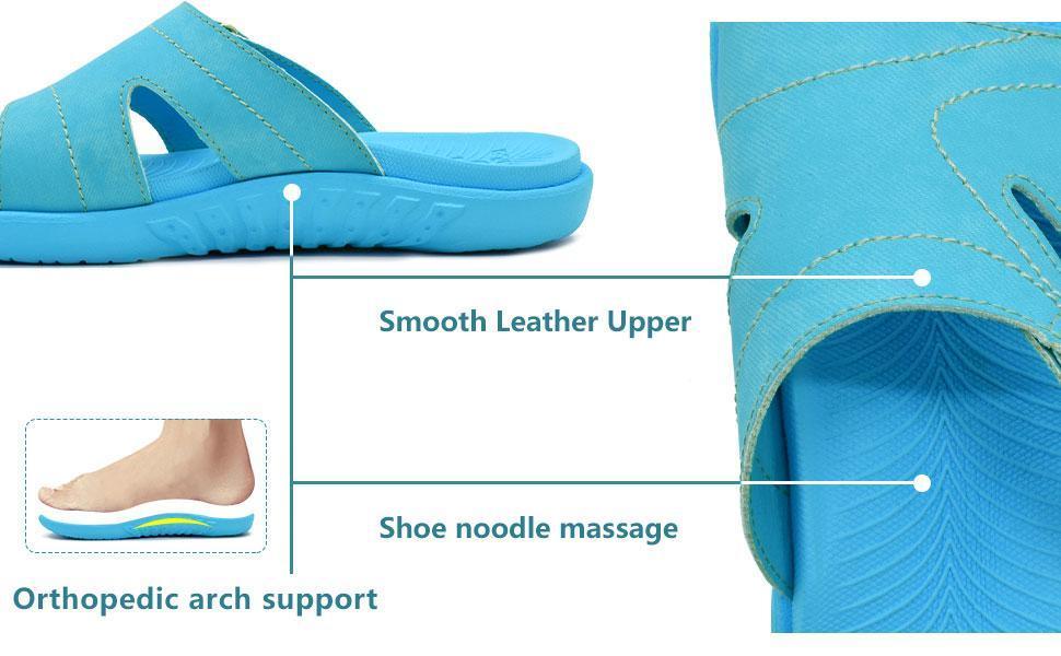 womens orthotic slides sandals