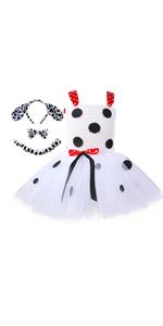 Dalmatian costume toddler girls