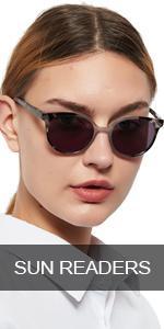 OCCI CHIARI Reader Sunglasses Women UV Protection Outdoor Reader Glasses(Gray, 300),Not Bifocals