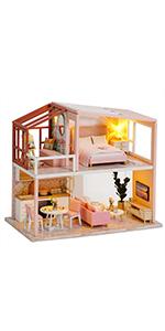 Fsolis diy dollhouse kit ql03