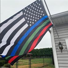 thin blue line flag 3x5