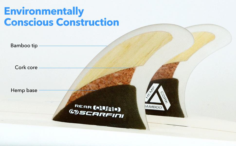 Environmentally Conscious Construction Hemp base, Cork core, and Bamboo tip
