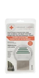 Orange Cross Lice Comb
