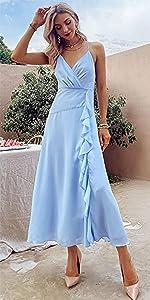 Split Sequin Evening Dress