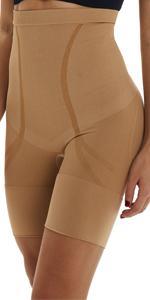 Belugue Women Hi-Waist Shapewear Tummy Control Mid Thigh Short Panty Body Shaper