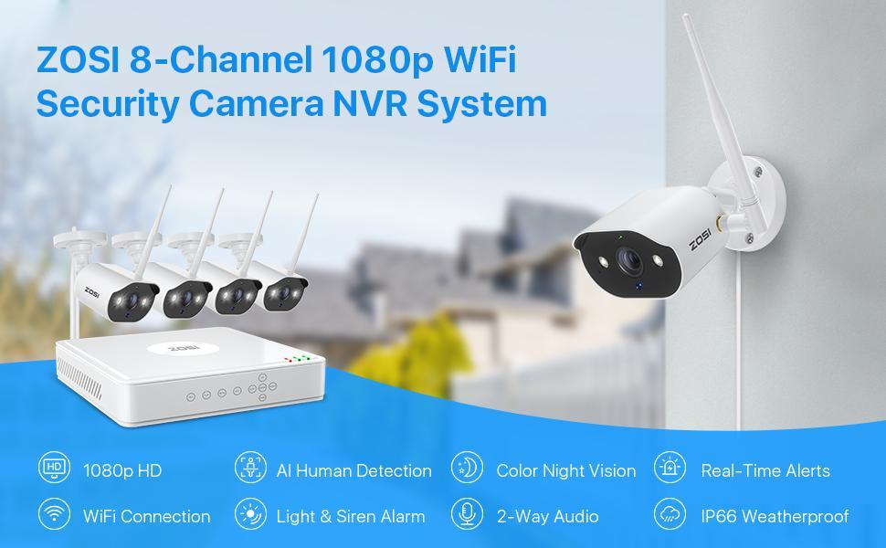 C302 WiFi Security Cameras System