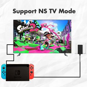 support nintendo switch tv dock mode