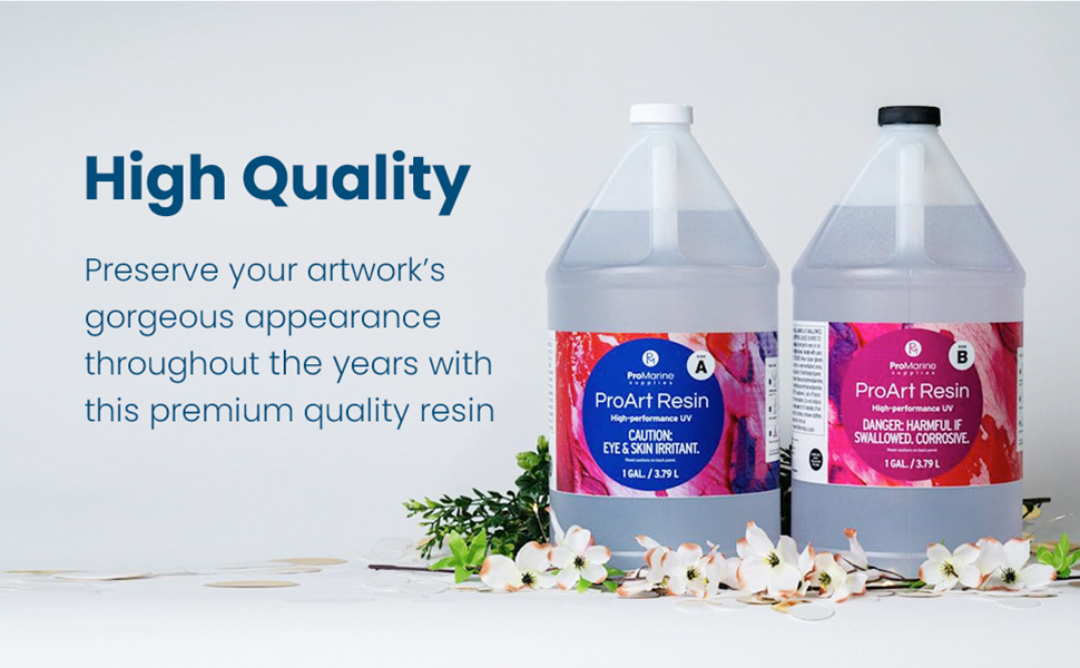 Your art with this epoxy resin mix is guaranteed high-quality and will last for decades to come