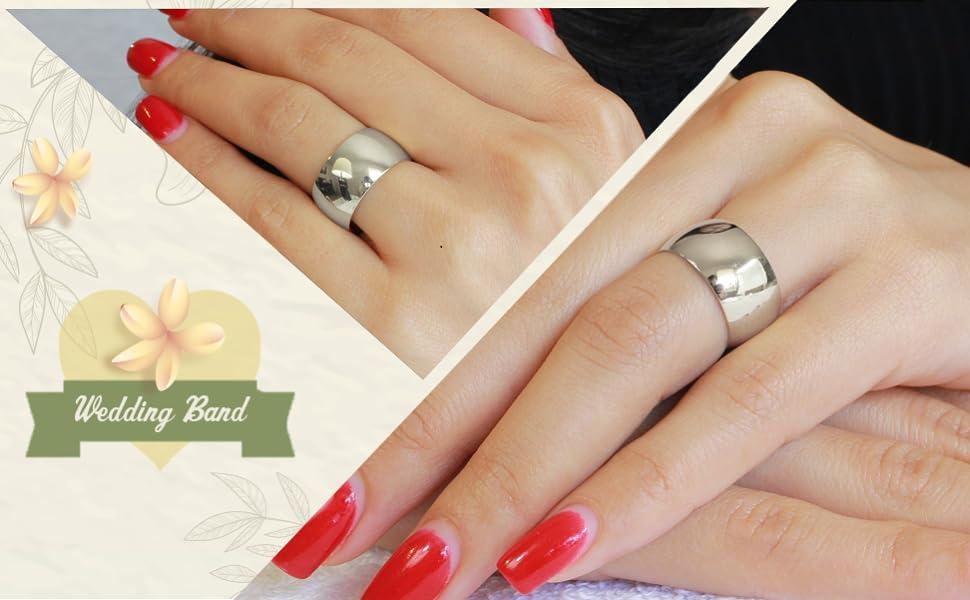 Wedding Ring on models hand