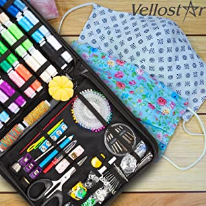 xl premium vellostar sewing kit, sewing kits for adults, thread for sewing, needle and thread