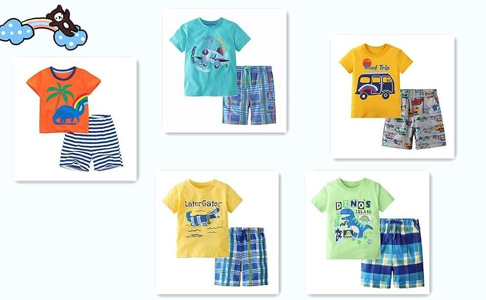 Boys shirts and shorts set