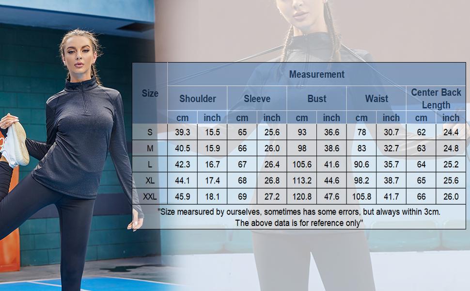 athletic quarter zip pullover women