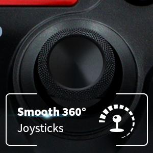 360 degree anolog joysticks