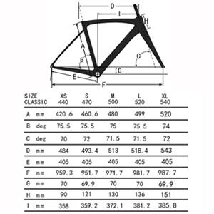 road bike choose size