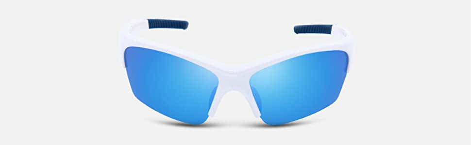 sports sunglasses shade wraparound polarized tac driving cycling hiking mirror revo blue white light