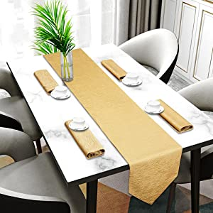 table runner and placemate