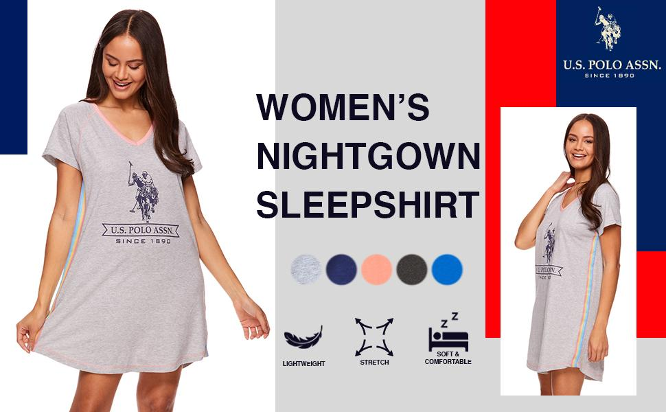 womens nightgown sleep shirt girl short sleeve night shirt