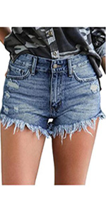 jean shorts for women short cut off youth distressed shorts