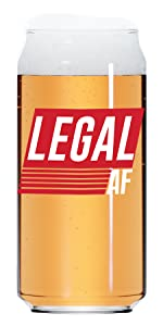 21st Birthday Gifts for Him, 21 Year Old Male LEGAL AF 20 Oz Beer Can Glass
