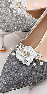 Shoe jewelry clips