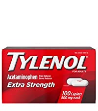 Tylenol Extra Strength Pain Relief Caplets with acetaminophen pain reliever